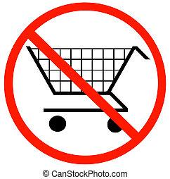 no shopping carts allowed