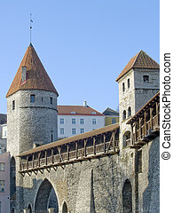 Medieval Fortification and towers in capital of Estonia...