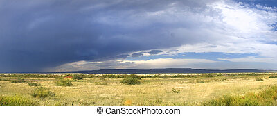 Storm clouds forming in New Mexico along Route 66