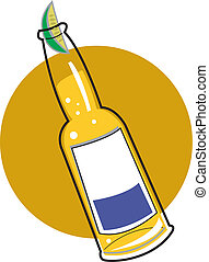 Beer bottle clip art - Beer bottle with a slice of lime clip...