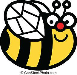 Happy Cartoon Bumblebee Clip Art