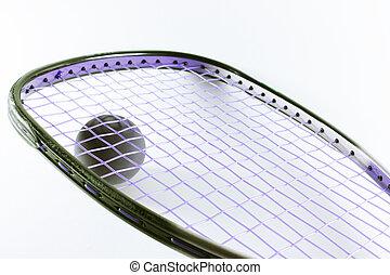 Racquetball, raqueta, Pelota