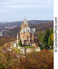 The Drachenburg castle in North Rhine, Westphalia, Germany