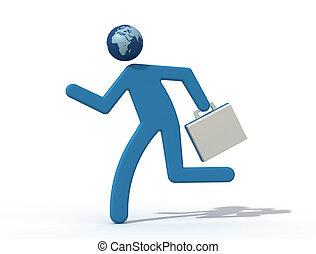 traveller - concept of global traveller - digital artwork