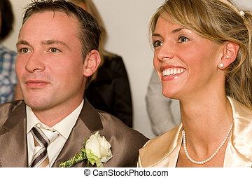 wedding - beautiful bridal pair