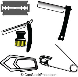 Shaving tools vector