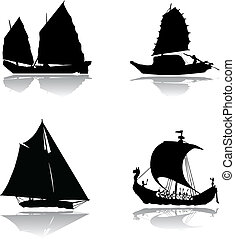 Ships with sails