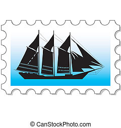 Stamp vector silhouette