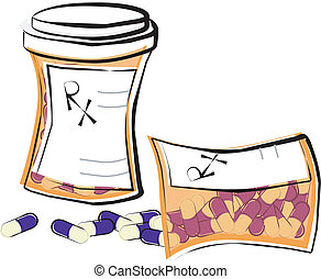 Prescription Pill Bottles - Two prescription medicine...