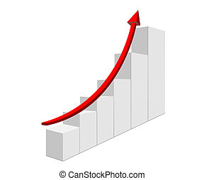 Diagram - The arrow of the diagram shows growth and success