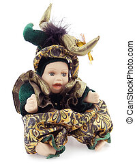 Carnival Porcelain Doll - Porcelain doll is sitting i n a...