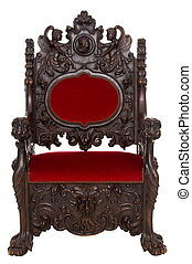 throne - beautiful antique throne