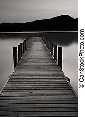 Lake Jetty at Coniston water - The famous jetty at coniston...