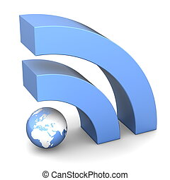 RSS Sign in Metallic Blue