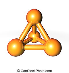 Molecule Structure Gold-Orange - simple gold-orange metallic...