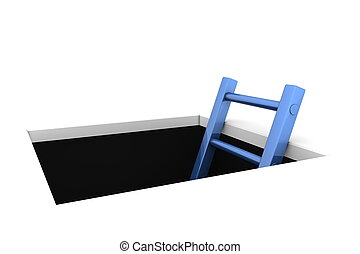 Climb out of the Hole - Shiny Blue Ladder