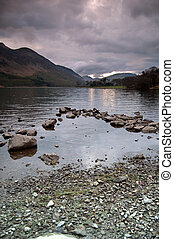 Lake Buttermere and mountain landscape - The beautiful Lake...