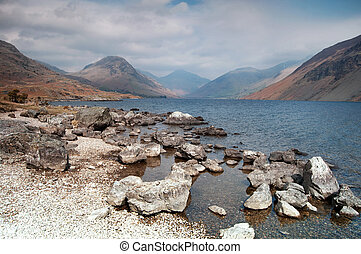 Beautiful mountain landscape - The beautiful Wast Water in...