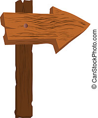 very rough blank wooden arrow sign - very rough blank wooden...