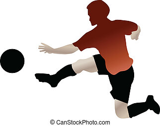 footbal player in action
