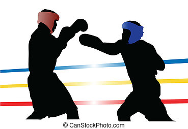 box fighting vector illustration