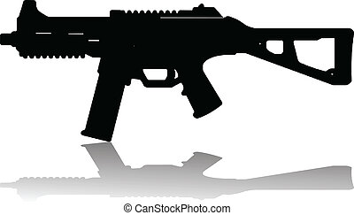 automatic rifle vector illustration