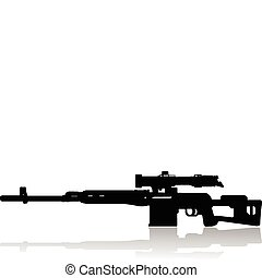 sniper rifle  - 	sniper rifle vector illustration