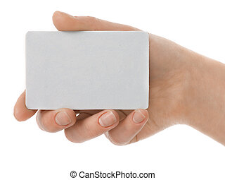 Business Card - Blank card in a women hand