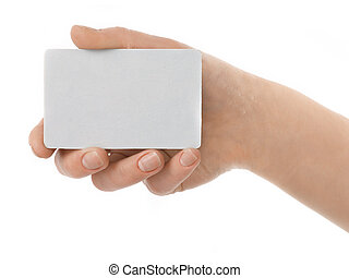Business Contact - Credit card female hand holding
