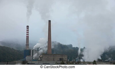 Industry Pollution in nature time l