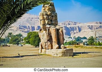 Colossi of Memnon in Thebes Luxor - Colossi of Memnon in...