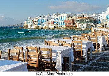 poco, Venecia, Mykonos, isla, grecia