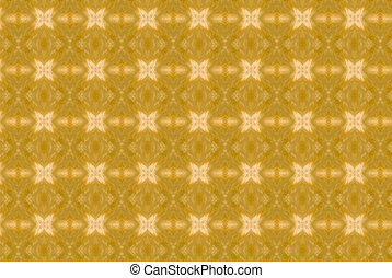 Yellow abstract kaleidoscope background.
