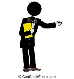 waiter - Silhouette-man waiter