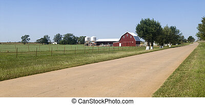 Farm land in Oklahoma - Farmland along Historic Route 66 in...