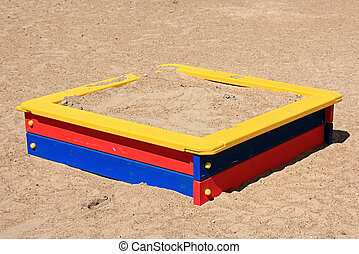 Child's sand-box. - Child's sand-box on a playground.