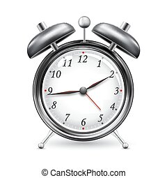 Alarm Clock - illustration ofalarm clock on isolated white...