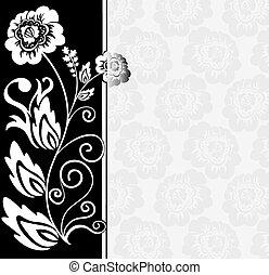 asimétrico, negro, blanco, backgr