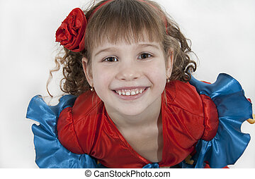 Little girl dancer - Portrait of the little girl dancer to a...