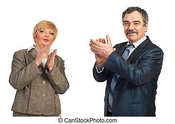 Maduro, empresa / negocio, gente, aplaudiendo