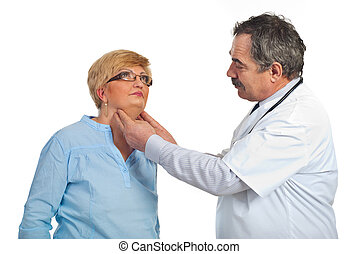 Mature endocrinologist with patient woman - Mature...