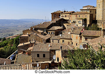 Houses of Volterra - A view of the houses of Volterra,...