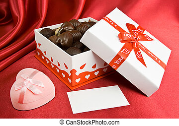 Candy box and prsent.
