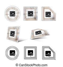 rfid chip - A set of different looking rfid chips
