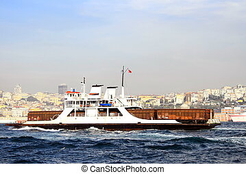 Transportation in Bosporus - Wagon transportation in...