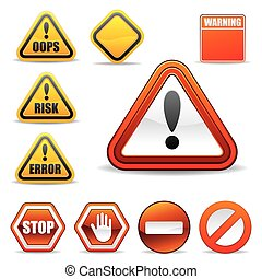 warning sign - set of warning sign
