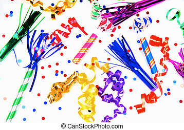 Party favors for celebrating - Multi-colored party favors...