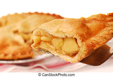 Slice of apple pie - Delicious slice of freshly baked apple...