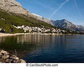 Landscape of small tourist town in Croatia