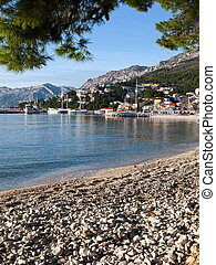 View at port in Croatia